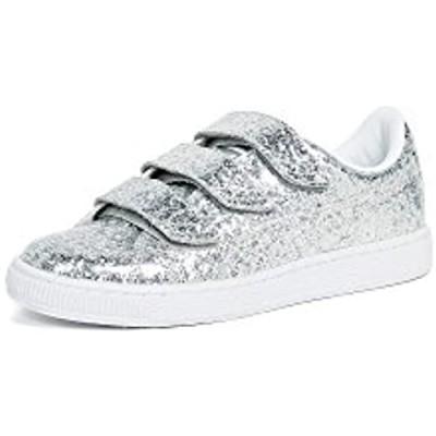 PUMA Women's Basket Strap Glitter Ankle-High Fabric Fashion Sneaker