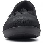 Clarks womens Ayla Shine Loafer Flat Black Textile 5.5 US