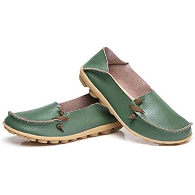 Robasiom Womens Soft Leather Comfort Driving Loafers Shoes