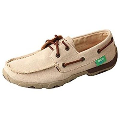 Twisted X Women's Boat Shoe Canvas Driving Moccasins