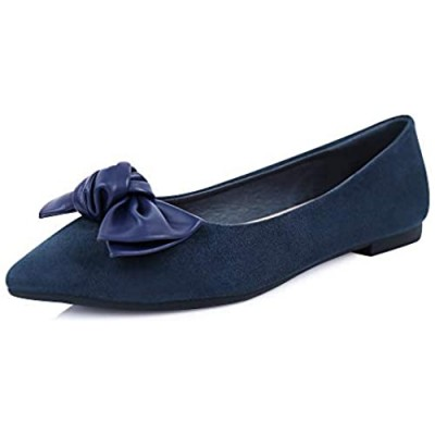 sorliva Flat Shoes for Women Comfortable Pointed Toe Cute Slip-on Girls Dress Ballet Flats Walking Shoes