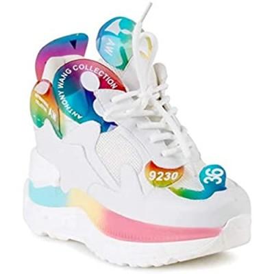 Anthony Wang Chunky Platform Wedge Sneaker for Women-Raisin-02
