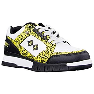 British Knights womens Metros Classic Low Top Fashion Sneaker Bright Yellow/Black/White 8.5 US