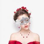 Masquerade Mask for Women Venetian Masks Christmas Women Flower Half-face Masks Eye mask Cosplay Lace mask