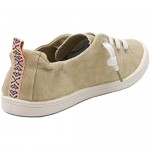 Rampage Women's Grateful Comfortable Slip On Sneaker Shoe with No-Tie Laces and Cute Design