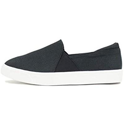 Soda Ridge ~ Women's Fashion Closed Toe Slip on Padded Low top Fashion Sneaker