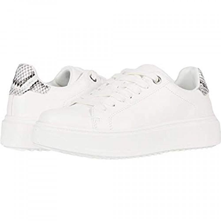 Steve Madden Women's Catcher Sneaker White Multi 6