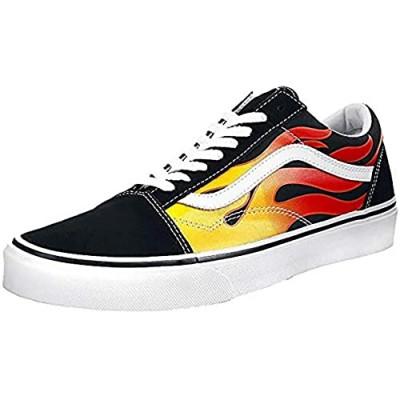 Vans Mens Old Skool Flame Black Size 6.5