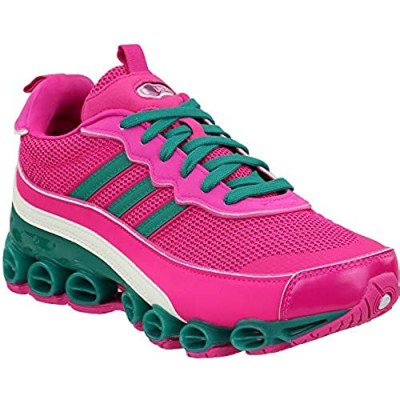 adidas Womens Microbounce T1 Lace Up Sneakers Shoes Casual - Pink