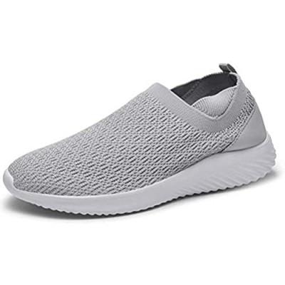 konhill Women's Comfortable Walking Shoes - Slip on Nursing Tennis Casual Work Sneakers