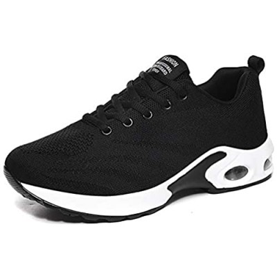 Trsorini Walking Shoes for Women Fashion Casual Lightweight Lace up Mesh Air Cushion Platform Sneaker Shoes for Female Driving Running Tennis Outdoor Dress