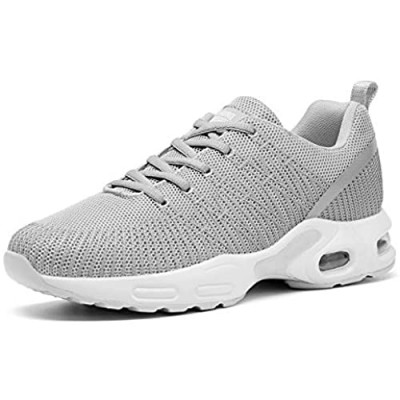Hiigyl Womens Running Tennis Shoes Lightweight Air Cushion Sneakers Athletic Workout Walking Gym Sport Shoes