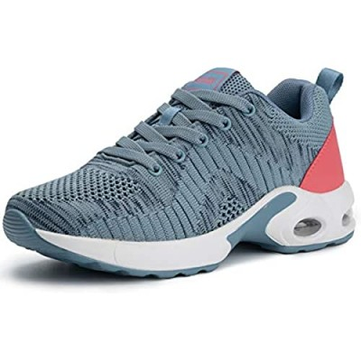 Pamray Women's Running Shoes Walking Air Cushion Lightweight Breathable Sneakers