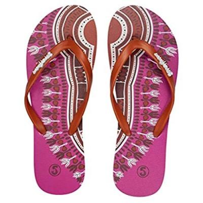 Slips Africa Womens Casual Flip-Flops | Comfortable Beach Slippers Pink