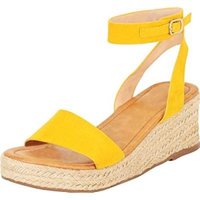 Cambridge Select Women's Single Band Ankle Strap Espadrille Chunky Platform Mid Wedge Sandal