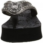 Roper Women's Conchos and Crystals Wedge Sandal